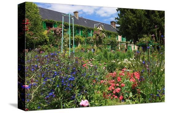 Claude Monet's House and Garden in Giverny, Department of Eure, Upper Normandy, France--Stretched Canvas Print