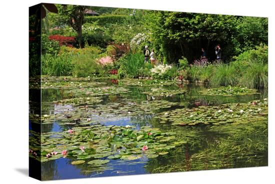 Claude Monet's Water Garden in Giverny, Department of Eure, Upper Normandy, France--Stretched Canvas Print