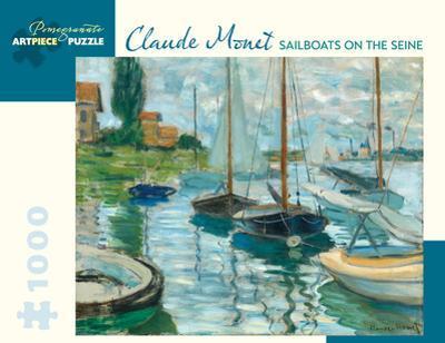 Claude Monet - Sailboats on the Seine 1000 Piece Jigsaw Puzzle