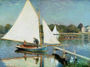Sailing at Argenteuil, c.1874 by Claude Monet