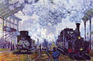 Saint Lazare Station In Paris, Arrival of a Train by Claude Monet