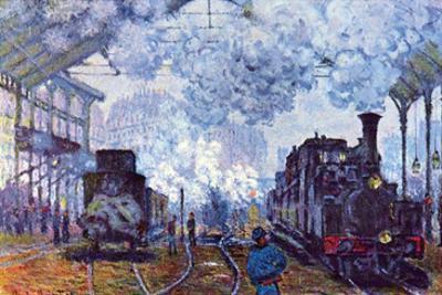 Saint Lazare Station in Paris, Arrival of a Train by Claude Monet