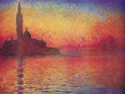 San Giorgio Maggiore by Twilight, Dusk in Venice, c.1908 by Claude Monet
