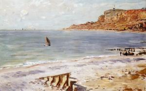 Seascape Sainte-Adresse by Claude Monet