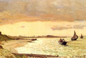 Claude Monet Seaside at Sainte-Adresse Art Print Poster
