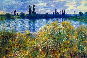 Claude Monet Seine Shores at Vetheuil
