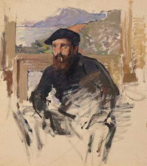 Self Portrait in His Atelier, c.1884 by Claude Monet