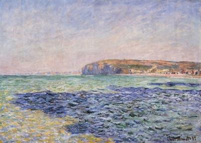 Shadows on the Sea - the Cliffs at Pourville by Claude Monet