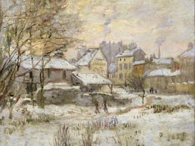 Snow Effect with Setting Sun, 1875 by Claude Monet