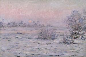 Snowy Landscape at Twilight, 1879-80 by Claude Monet