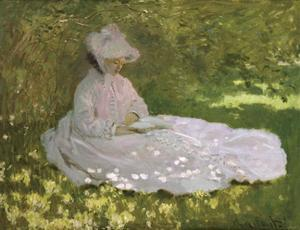 Springtime, 1872 by Claude Monet