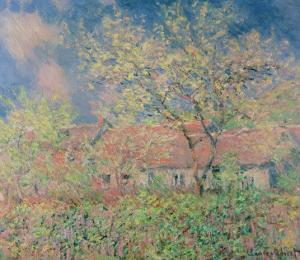 Springtime at Giverny, C.1880 by Claude Monet