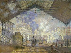 St. Lazare Station by Claude Monet