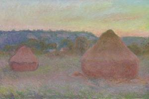 Stacks of Wheat (End of Day, Autumn), 1890-91 by Claude Monet