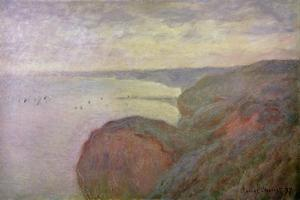 Steep Cliffs Near Dieppe, 1897 by Claude Monet