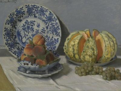 Still-Life with Melon by Claude Monet