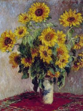 Still Life with Sunflowers, 1880 by Claude Monet