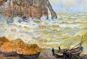 Claude Monet Stormy Sea La Porte d'Aval Art Print Poster