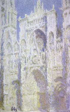 Sunlight, Rouen Cathedral: West Facade by Claude Monet