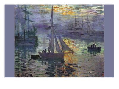 Sunrise At Sea by Claude Monet