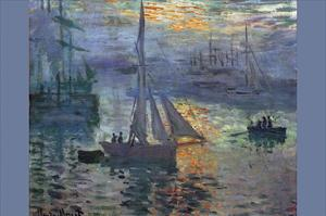 Sunrise at Sea by Claude Monet