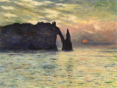 Sunset at Etretat, 1883