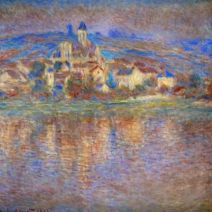 Sunset in Vetheuil, 1900 by Claude Monet