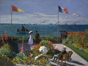 Terrasse À Sainte-Adresse, 1866-1867 by Claude Monet