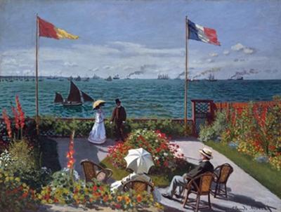 Terrasse À Sainte-Adresse (Terrace at Sainte-Adresse) by Claude Monet