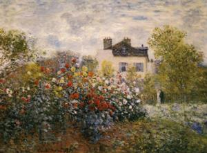The Artist's Garden at Argenteuil by Claude Monet