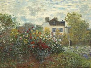 The Artist's Garden in Argenteuil (A Corner of the Garden with Dahlias), 1873 by Claude Monet