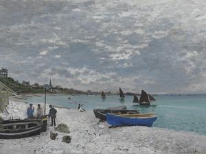 The Beach at Sainte-Adresse, 1867 by Claude Monet
