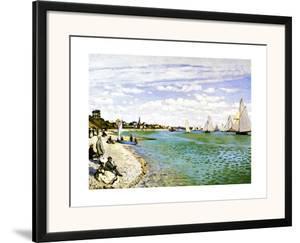 The Beach at Sainte Adresse by Claude Monet