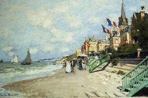 The Beach at Trouville; La Plage a Trouville, 1870 by Claude Monet