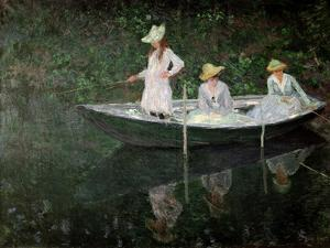 The Boat at Giverny, circa 1887 by Claude Monet