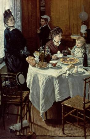 The Breakfast, 1868 by Claude Monet