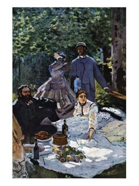 The Breakfast Outdoors, Central Section by Claude Monet