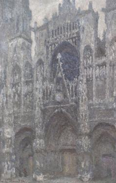 The Cathedral in Rouen, The Portal, Grey Weather, 1892 by Claude Monet