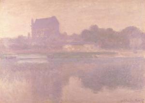 The Church of Vernon, Brouillard, 1894 by Claude Monet