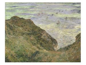 The Cliff at Pourville by Claude Monet