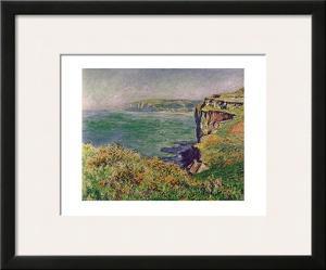 The Cliff at Varengeville, c.1882 by Claude Monet