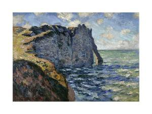 The Cliff of Aval, Etretat, 1885 by Claude Monet