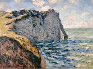 The Cliff of Aval, Etrétat, 1885 by Claude Monet