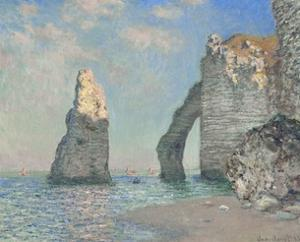 The Cliffs at Etretat by Claude Monet
