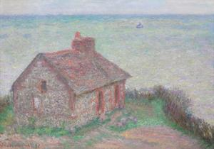 The Customs House, Pink Effect, 1897 by Claude Monet