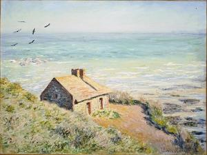 The Customs Hut, Morning, 1882 by Claude Monet