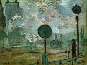 The Gare Saint Lazare (Le Signa) by Claude Monet