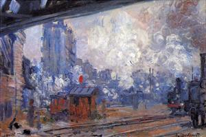 The Gare Saint-Lazare by Claude Monet