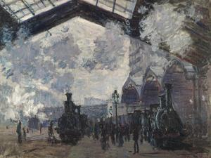 The Gare St-Lazare, 1877 by Claude Monet