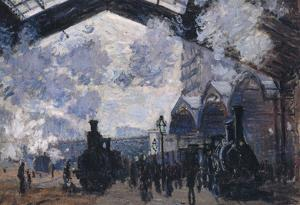 Claude Monet The Gare St-Lazare Art Print Poster